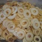 Une bonne fournée de rondelles de pomme