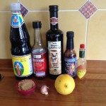 Ingrédients marinade